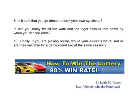 7 Tips On Winning The Lotto by Tips On Winning A Lottery