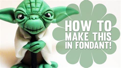 How To Make Yoda From Star Wars Cake Decorating Tutorial Youtube Yoda Cake Template
