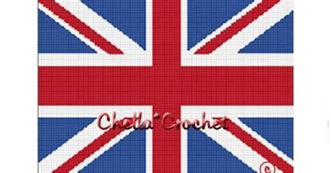 crochet pattern union jack instant download chella crochet british union jack flag