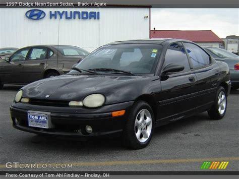 black 1997 dodge neon sport sedan agate interior
