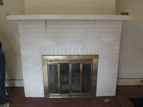 Paint Brick Fireplace by Finding Pheidippides Reving A Painted Brick Fireplace