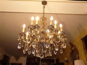 lustre cristal ancien lustre ancien en cristal et bronze dor 233 lustres a