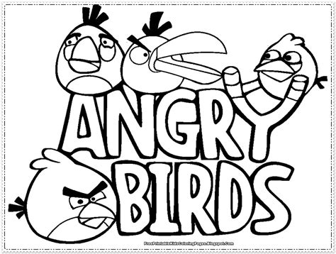 coloring page angry birds go angry birds kids coloring pages free printable kids