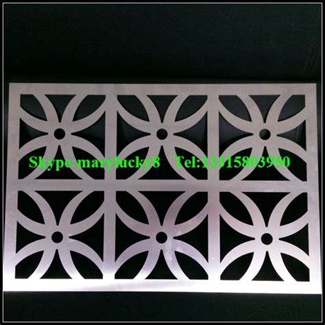 wholesale decorative laser cutting perforated metal wall