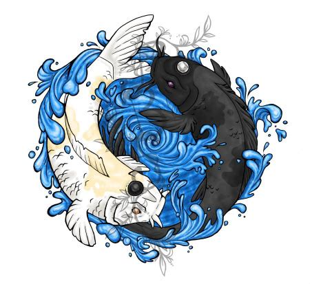 koi fish tattoo representation black and white yin yang koi fish hawaii dermatology