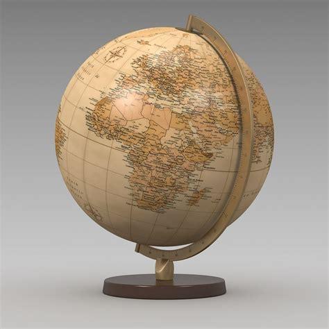 Kaos Globe Original 14 max world globe antique