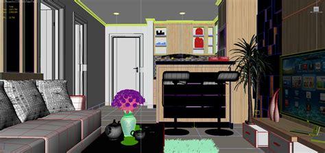 studio type apartment studio type apartment 3d model max cgtrader com
