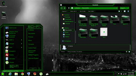 new themes for windows 8 1 2015 windows 8 theme green sci fi by newthemes on deviantart