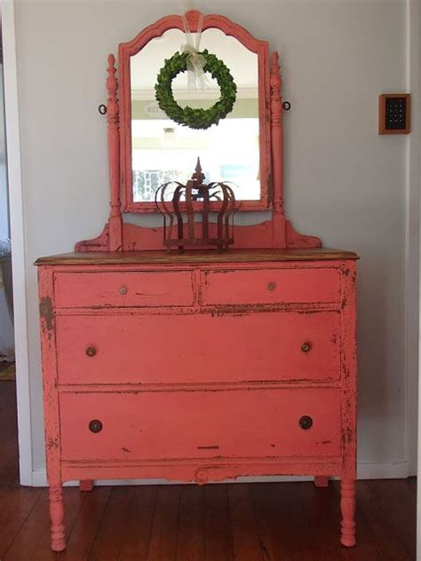 Coral Painted Dresser by 25 Best Coral Painted Furniture Ideas On Coral Painted Dressers Bright Colored