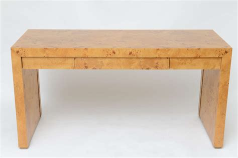 1970s burl wood desk at 1stdibs