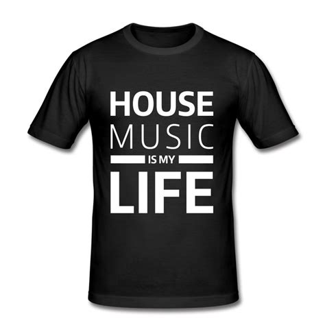 House Music Is My Life Techno Club Dj Musik T Shirt Spreadshirt