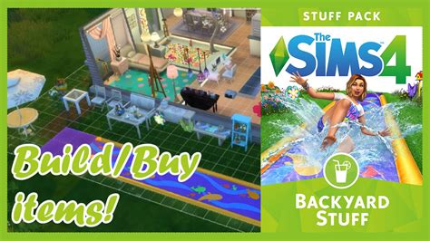 the backyard pack the sims 4 backyard stuff build buy items youtube