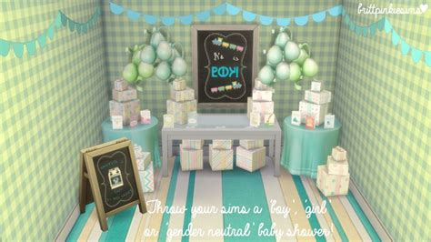 sims 4 cc baby funtioneri the sims 4 baby shower stuff i don t know about you guys