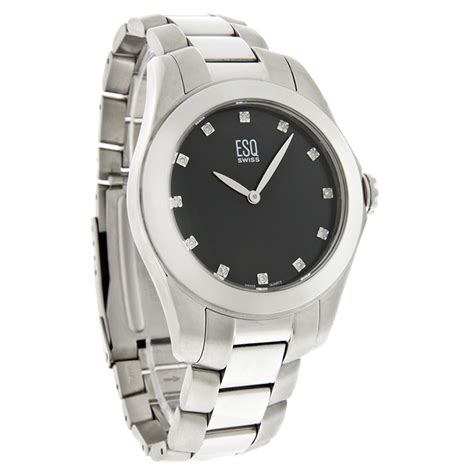esq by movado aston mens stainless steel