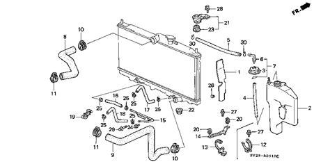 1997 honda accord parts diagram honda store 1997 accord radiator hose parts