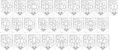 disegni lettere alfabeto da colorare lettere da stare per striscioni o festoni maestramaria