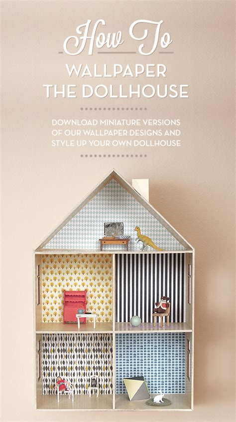 printable dollhouse wall art make it wallpaper a dollhouse 187 curbly diy design decor