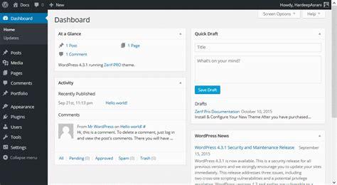 wordpress sections zerif pro documentation themeisle docs