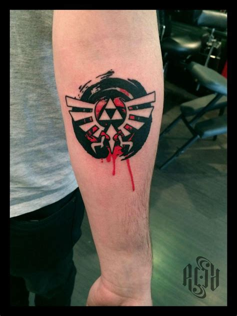 triforce tattoo triforce tribute by acid acid