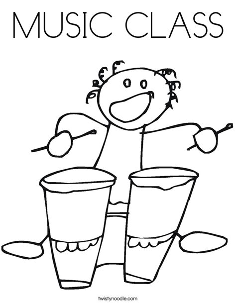 coloring pages for music class music class coloring page twisty noodle