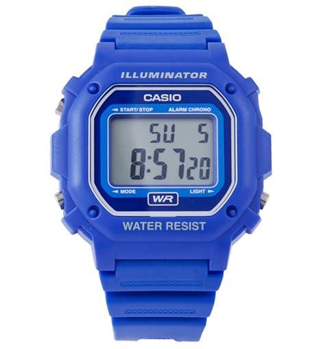 Casio F 108wh 2aef blue retro illuminator f 108wh 2aef from casio