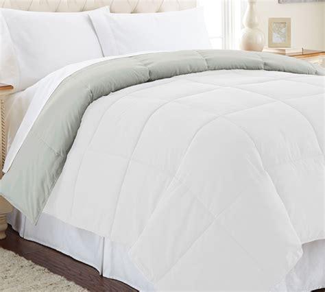 full xl comforter down alternative reversible comforter white gray full