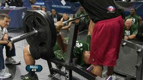 most bench press nfl combine nam s noodle most reps performed for 225lb bench press
