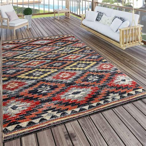 alfombras exteriores alfombra interior exterior rojo naranja negro alfombras