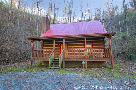 pigeon forge cabin smoky mountain hideaway 1 bedroom