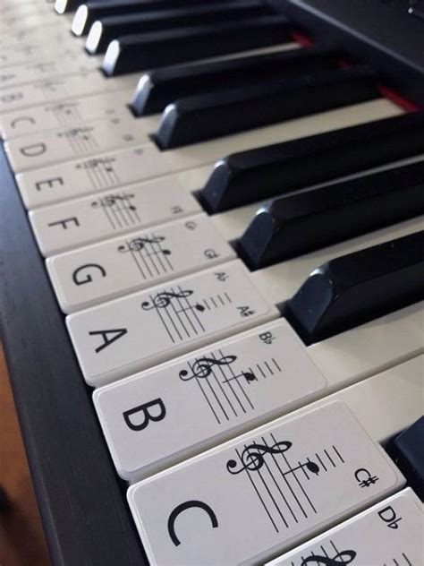 Yamaha Piano Sticker by This Set Of Label Stickers Is For A 61 Key Piano Or