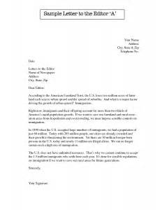 Copy Cover Letter by Format For A Letter To The Editor Best Template Collection