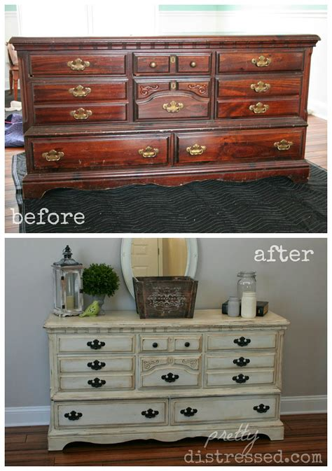 upcycle dresser pretty distressed goodwill dresser upcycle reveal