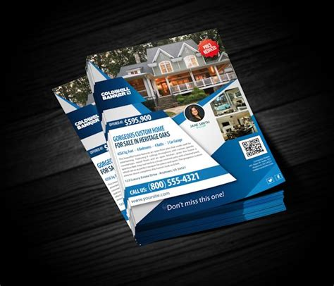 coldwell banker flyers realty cards printing
