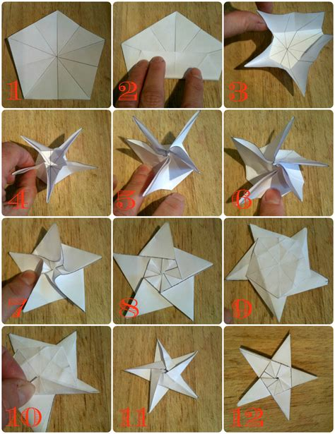 How To Make A 5 Point Out Of Paper - five go blogging wish upon an origami