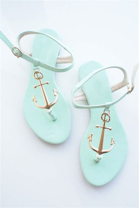 mint colored anchor sandals it anchors