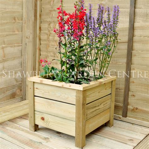 Square Outdoor Planters Large by Forest Garden Large Square Planter