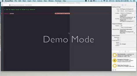 Cocoa Tutorial Xcode 6 | how to import cocoa to xcode 6 playground youtube