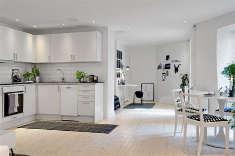 white appartment a small white apartment with black accents and modern