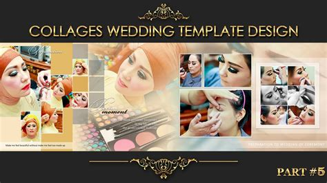 elegant inspiration collages album wedding photoshop part