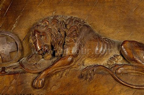 Lion Statue Home Decor by Swiss Lion Relief Carving Ca 1900