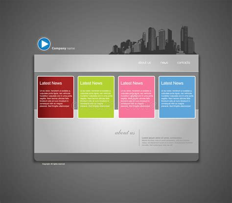 Website Template With City Royalty Free Stock Images Image 13656169 Copyright Free Website Templates