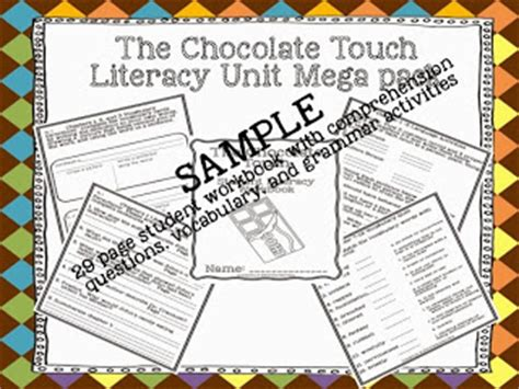 chocolate touch worksheets stellar students it s all about chocolate teaching ideas to use with the chocolate touch