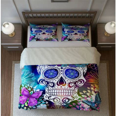 skull comforter set king 17 best ideas about purple duvet covers on pinterest