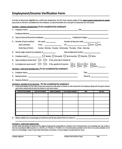 income verification letter legalforms verification of