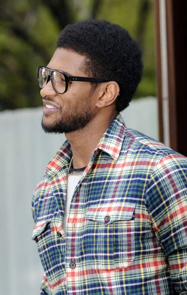 show ushers haircuts usher photos photos usher out and about in nyc zimbio