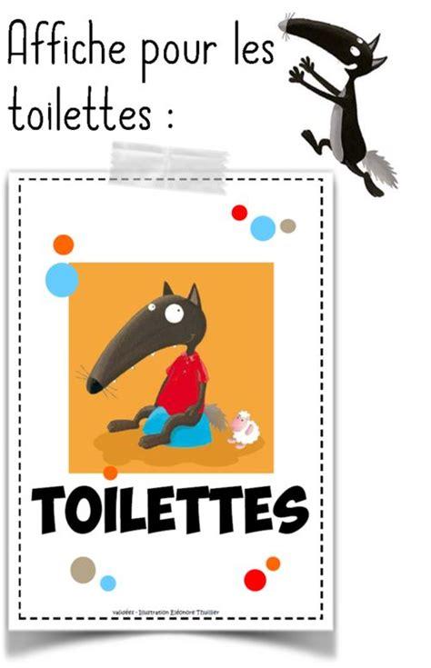 Merci Comme Meme - gestion des toilettes avec loup affichage classe pinterest