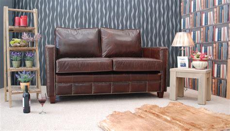 Traditional Leather Sofas Uk Sligo Vintage Leather Sofas Traditional Settee Design With Studding On Arms Front Border