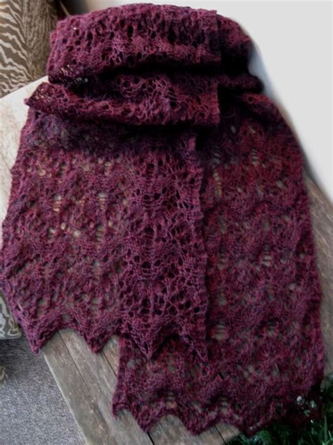 pin by melanie cbell on lace scarf knitting patterns reversible lace scarf free knit sew crochet projects