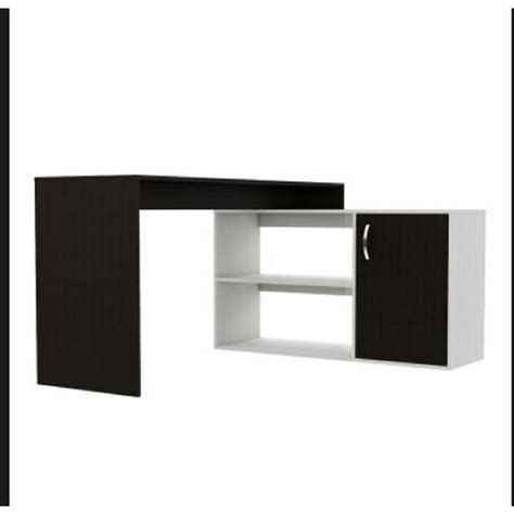 home depot corner desk axis espresso l shaped corner desk with door and shelves