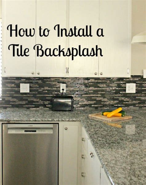 How To Install Glass Mosaic Tile Backsplash In Kitchen - how to install a glass tile backsplash she buys he builds